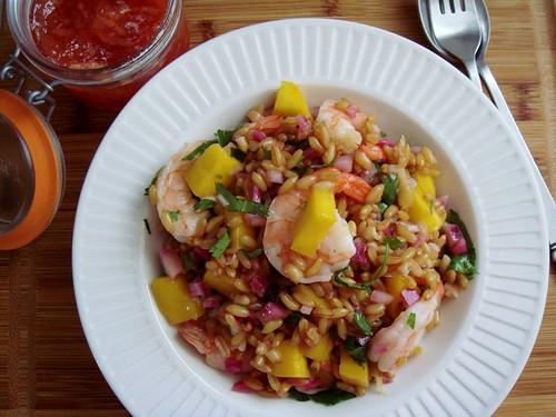 Mango & Shrimp Wheat Berry Salad