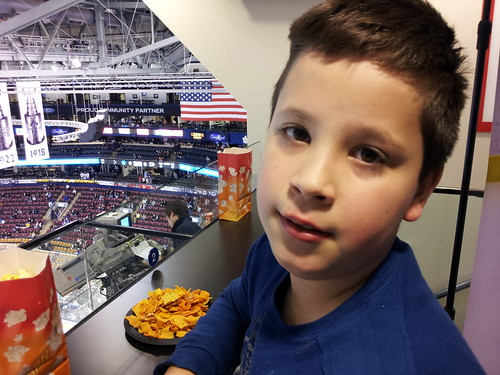 The boys first Leafs game!