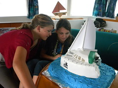 Don Quixote Girls Marvel at Our Boat Cake by toastfloats