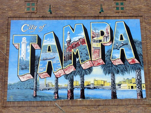 Tampa! City sign.