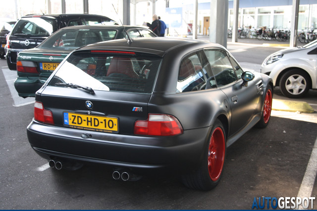 S50B32 M Coupe | Matte Black Vinyl | Imola/Black | Red Powder Coated Wheels