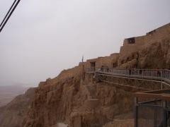 Walkway to the top of Masada