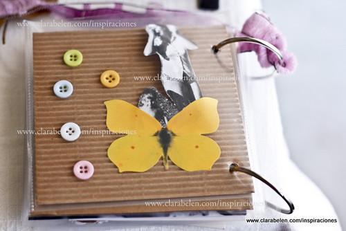 Inspiraciones manualidades y reciclaje lbum casero con relieve o 3d - Hacer un album de fotos casero ...