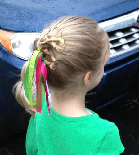 Quinn's St. Patrick's Day school hair by hopeandmegan