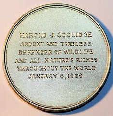 New York Zoological Society medal Reverse