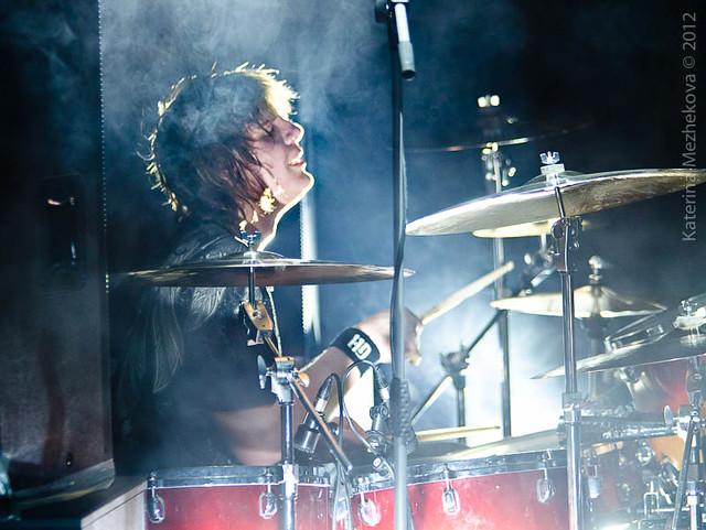 Pontus Engborg on drums