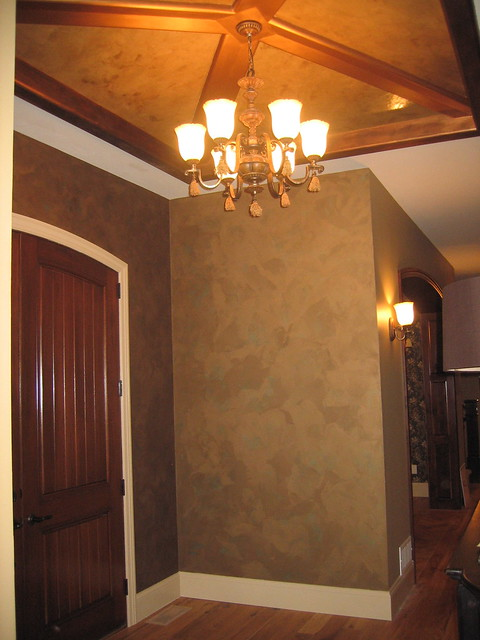 Foyer Plaster Ceiling : Entryway italian finishes venetian plaster b