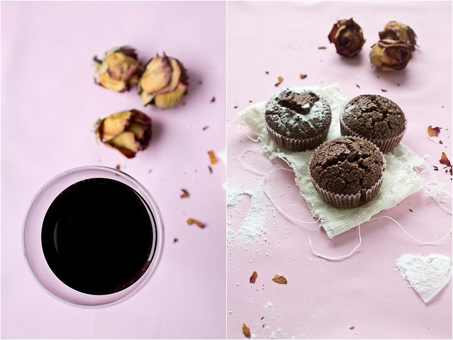 chocolate muffins with red vine6