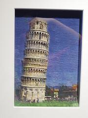 カシオ デジタル絵画 ピサの斜塔