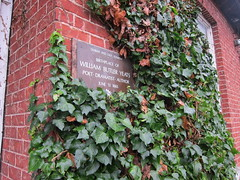 Photo of William Butler Yeats brown plaque
