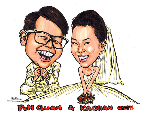wedding couple caricatures 01112011