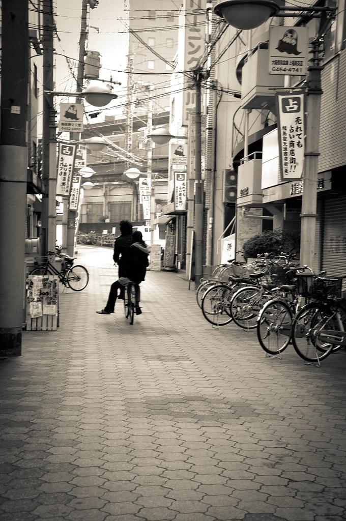 大阪。小情侣。