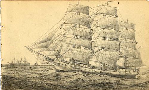VintageShipSketch