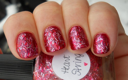 Lynnderella Heart Strings over Finger Paints Red-Brandt