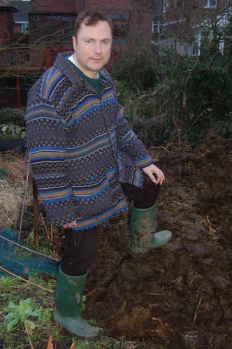 JW with manure heap Feb 12