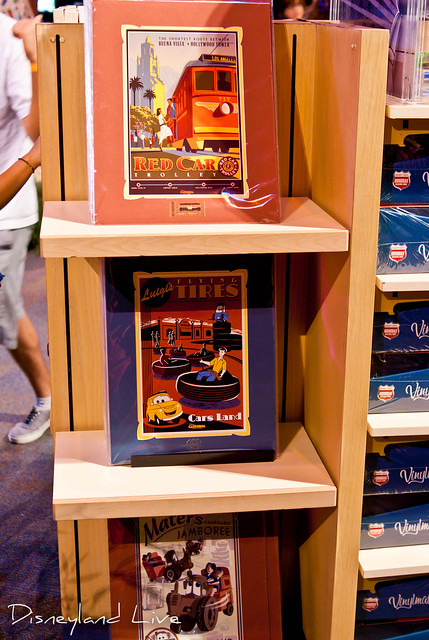 Cars Land / Buena Vista Street AP Merchandise Showcase - Attraction Poster