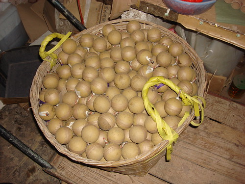 A Basket Full Of Shells At The Fireworks Factory  - Epic Fireworks China Trip 2012