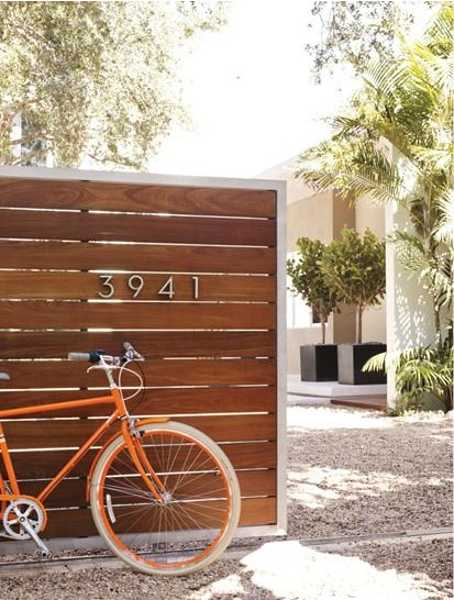 Fence Modern House Numbers 378 x 500