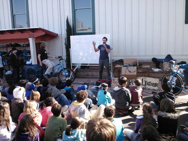 Educational Pedal Power School Assembly
