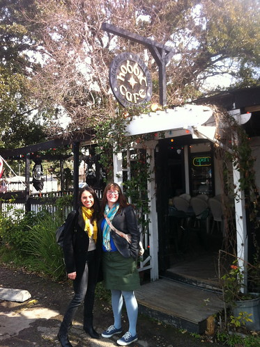 Liz and Leslie at the Hobbit Cafe, Houston