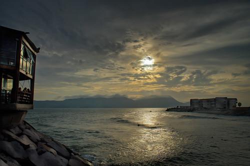 sunset peru pacific hdr callao lapunta d5000 lrenfuse sanlorenzoisland