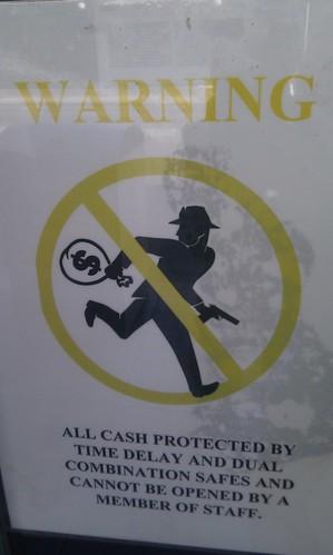 No robbing this store