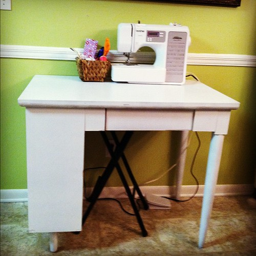 Painted desk