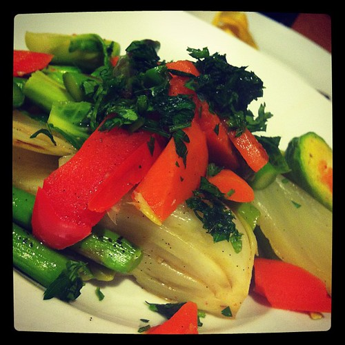 Vegetables a la Barigoule with Vanilla