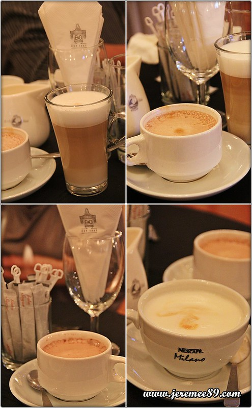 Nescafe Milano Launching @ E&O Hotel - Latte, Mocha, Hot Chocolate, Cappucino Tasting