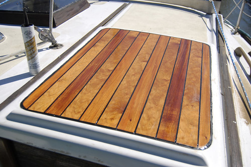 to repair or replace teak wood decking on a boat finished and sealed