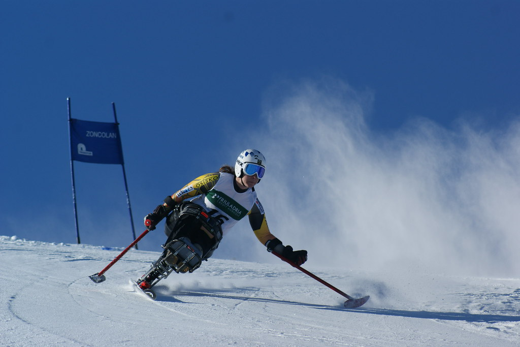 Kimberly Joines skis to a first-place finish in World Cup giant slalom in Arta Terme, Italy.
