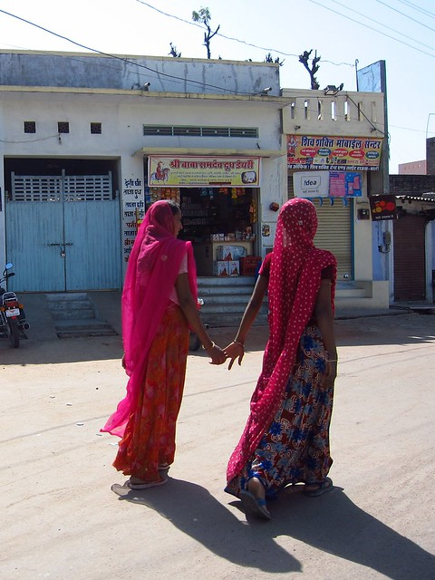 Rajasthani Women Holding Hands
