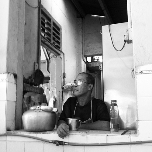 Coffee shop dude, Georgetown, Penang.