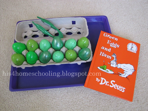 Green Eggs and Ham Activity (Photo from H is for Homeschooling)