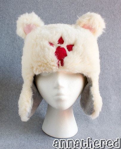 Ushanka hat prototype - fake fur ver.3 w/ fleece lining