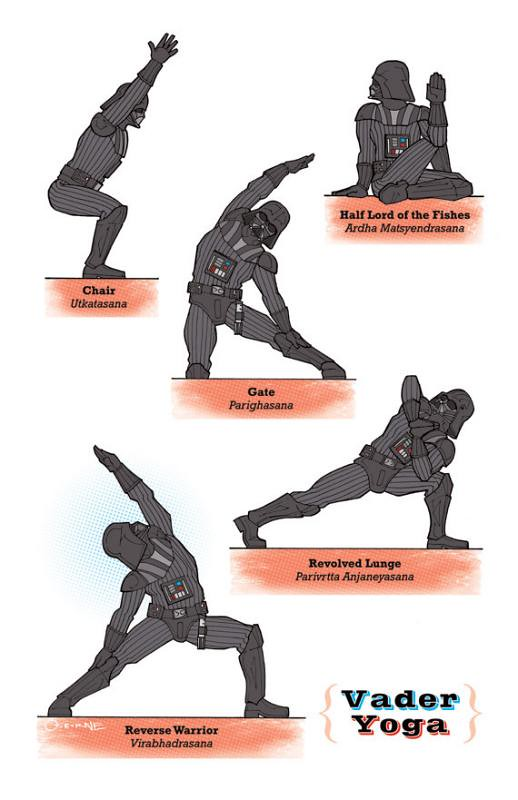 Yoga Star Wars darth vader