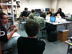 <p>Just another Friday in the launchpad as everyone is gearing up for RobotFest'12</p>