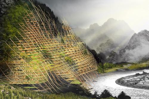 Проект был недавно удостоен второго места в конкурсе eVolo Skyscraper Competition 2012