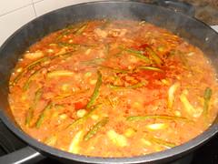 Paella de arroz Santapolero