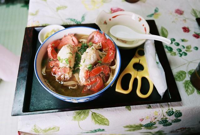A crab noodle