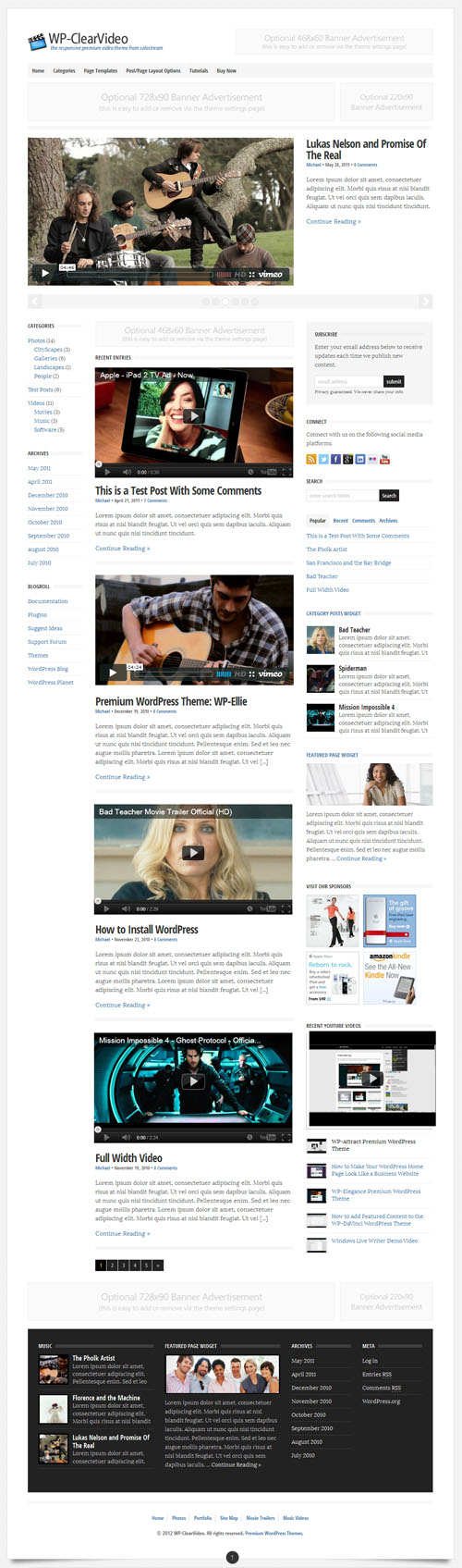 wp-clear-video-wordpress-theme
