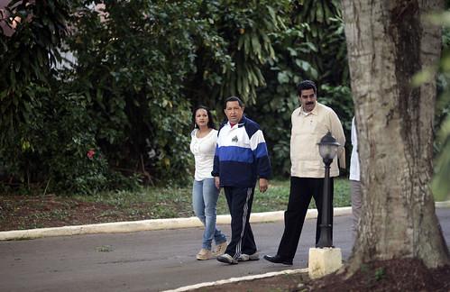 Fotos de Chávez en Cuba