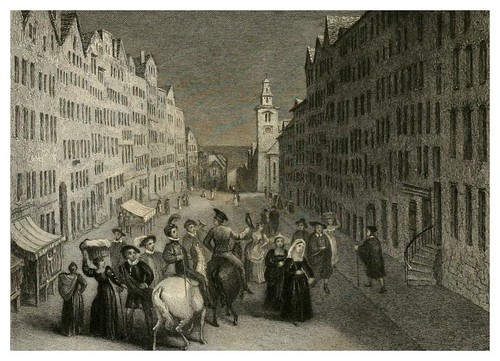 003-Calle principal de Edinburgo-Finden's landscape illustrations of the Waverley novels.. 1834-varios artistas