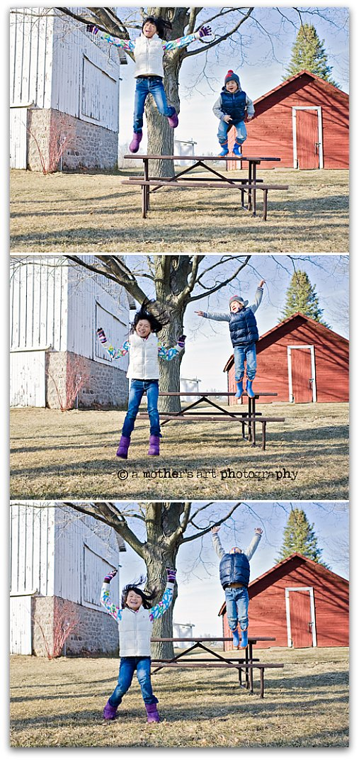 March JumpingTriptych