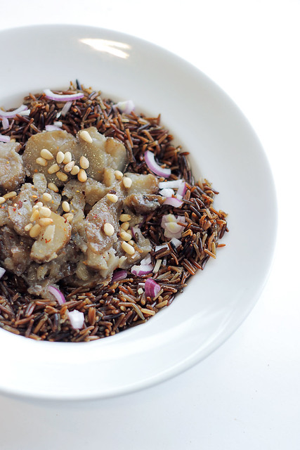 Jerusalem Artichokes, Red Onions and Wild Rice
