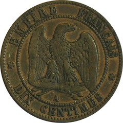 French 10 Centimes reverse
