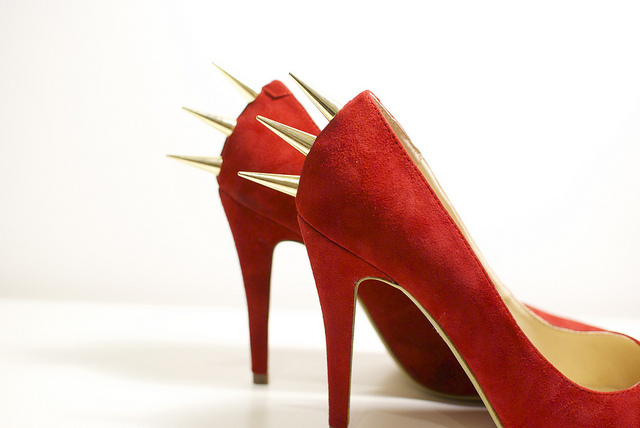 DIY Spiked heels by A Pair And A Spare 2