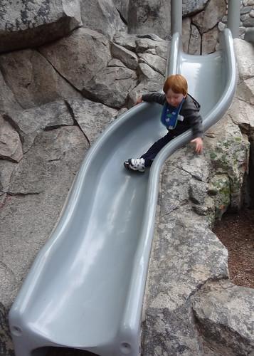Archie on the Rock Slide