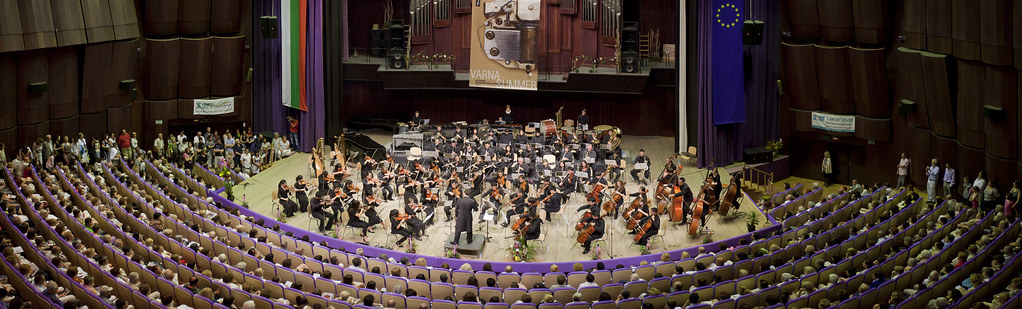 Pacific Symphony Youth Orchestra performs in the Congress Centre Concert Hall in Varna, Bulgaria