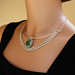Sterling & Serpentine Necklace - On by Ruth Jensen